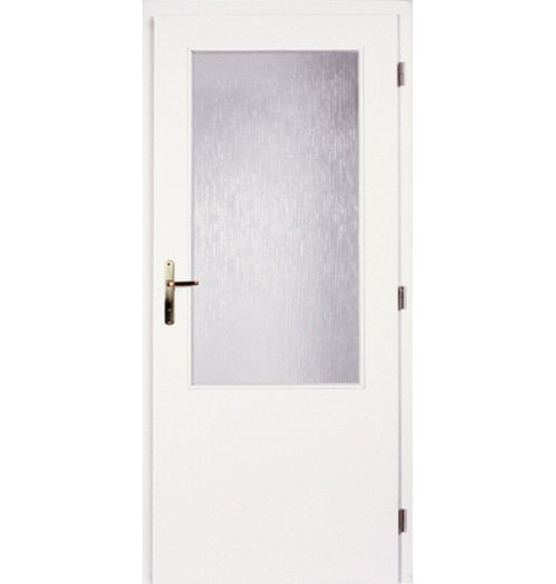 Masonite interiérové dveře sklo 2/3 hladké bílé, sklo kůra čirá 90 cm