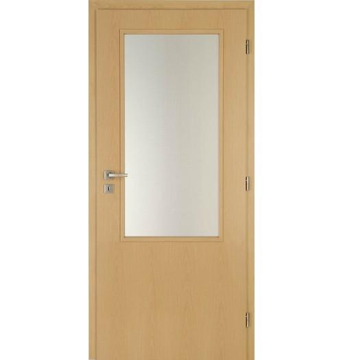 Masonite interiérové dveře sklo 2/3 kašír buk , sklo kůra čirá 80 cm