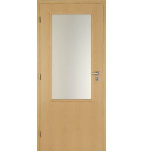 Masonite interiérové dveře sklo 2/3 kašír buk , sklo kůra čirá 90 cm