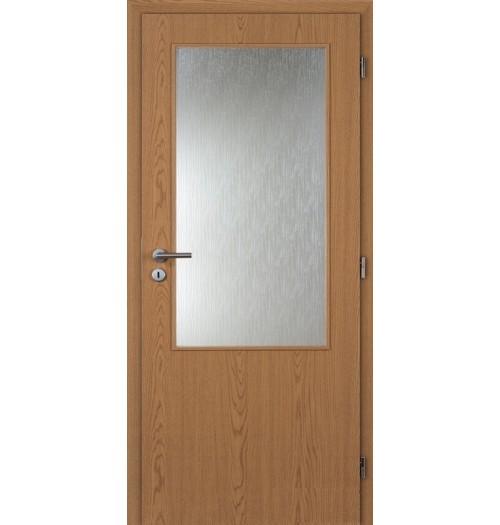 Masonite interiérové dveře sklo 2/3 kašír dub , sklo kůra čirá 60 cm
