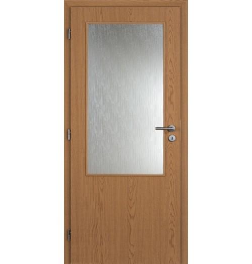 Masonite interiérové dveře sklo 2/3 kašír dub , sklo kůra čirá 80 cm
