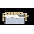 Masonite Obložková zárubeň hladká bílá